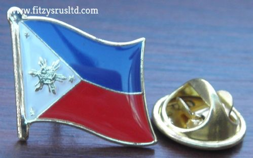 Philippines Filipino Country Flag - Lapel - Hat - Cap - Tie Pin Badge Republic